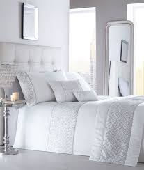Bedding Sets Luxury Luxury Diamante Trim Duvet Quilt Cover Bedding Set Shimmer Ebay
