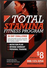 fitness flyer template total stamina fitness flyer template preview by seraphimchris on