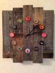 Buy Clock by Rustic Wood Beer Cap Clock Buy It On Ebay Search By Description