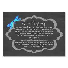 baby shower registries chalkboard blue dragonfly baby gift registry cards wedding