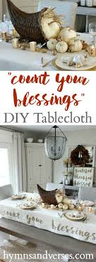count your blessings thanksgiving tablecloth hymns and verses