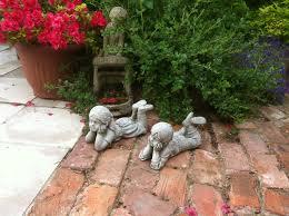 new home garden small boy and decorative garden