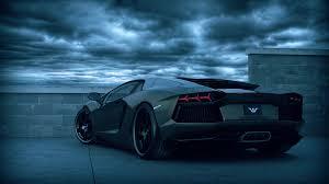 Black Lamborghini Aventador - beautiful black lamborghini aventador rear view 1920x1080 full