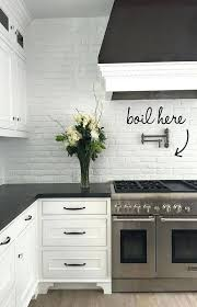 kitchen brick backsplash white brick backsplash in kitchen madebyni co