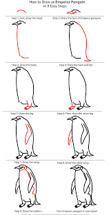 how to draw an emperor penguin penguin place post