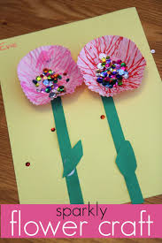 sweet sparkly flower craft for kids read learn create