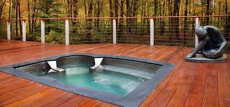 Dining Table And Pool Combination by Stainless Spa Stainless Steel Tub Luxury Spas Diamond Spas