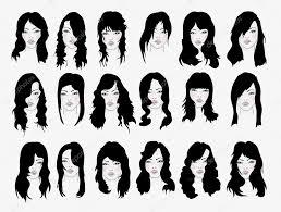 set of women u0027s hairstyles u2014 stock vector panaceadoll 40871155