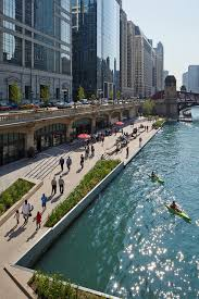 Chicago Riverwalk Map by Chicago Riverwalk Chicago Department Of Transportation Archdaily