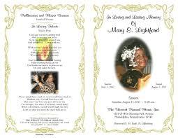 free funeral obituary programs templates
