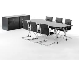 Black Meeting Table Dynamo Boardroom Table In High Gloss 6 To 8 Seater In Black