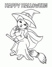 flying witches halloween coloring pages printable free hallowen