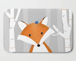 Kids Animal Rugs Fox Rug Etsy