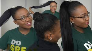 hair pony tail for african hair hair style how to ponytail using braiding hair on short
