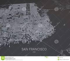 Map Of San Francisco by Map Of San Francisco Royalty Free Stock Image Image 3878416