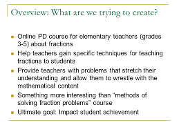 designing an online math course questions and answers burt