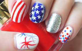 4th of july nails konad stamping and freehand youtube