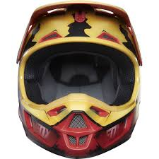 childs motocross helmet fox racing 2016 limited edition youth v1 iron man helmet red