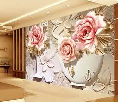 wholesale custom 3d wallpaper murals 3d flower wallpaper relief