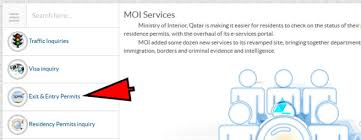 Qatar Ministry Of Interior Traffic Department How To Apply For Qatar Exit Permit Online Sirhow