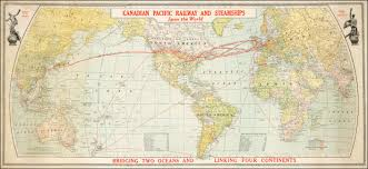 Canadian Pacific Railway Map Canadian Pacific Railway And Steamships Span The World Bridging