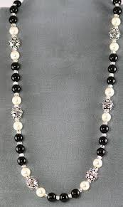 string beads necklace images Stringing on wire 1 jpg