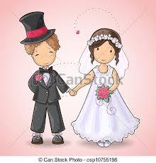 Groom And Groom Wedding Card Eps Vectors Of Wedding Card With Groom And Bride Cartoon
