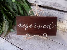 metal reserved table signs reserved sign event sign reserved seating by willowroaddesigns