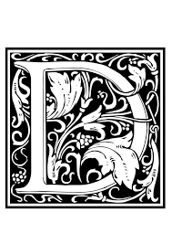 coloring page ornamental alphabet d img 28649