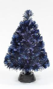 50cm fibre optic tinsel tree