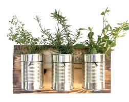rustic herb planter hanging planter indoor herb garden