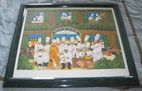 ecole de cuisine buffet ecole de cuisine signed le 69 500 serigraph 28x33
