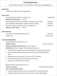 Resume Templates For Teachers Free Microsoft Word Resume Template U2013 99 Free Samples Examples
