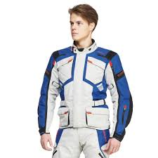 blue motorbike jacket sweep gt adventure 4 season jacket grey blue motorbike
