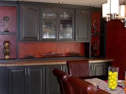 dark red kitchen home design ideas