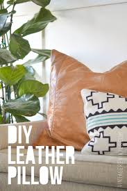 diy leather pillow tutorial u0026 how to sew a zippered pillow cover