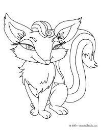 cute fox coloring pages hellokids com