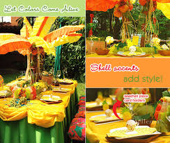 caribbean decorations jamaican themed engagement party ideas