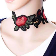 choker necklace stores images Bohemian embroidery flower choker necklace amboo markt store jpg
