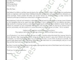 cover letter examples for preschool teachers cover letter example