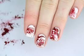 packapunchpolish blood splatter nail art with video tutorial