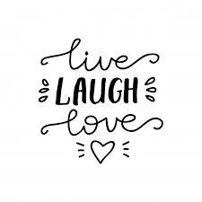live laugh love lettering live laugh love vector illustration vector premium