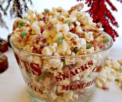 white chocolate christmas popcorn party mix frugal hausfrau