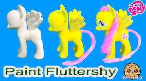 my mlp fluttershy paint and style my little pony custom craft