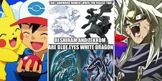 Lazy Eye Meme - 20 hilarious pokémon vs yu gi oh memes superfans