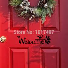aliexpress com buy welcome sign wall sticker front door