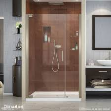 48 Shower Doors Dreamline Elegance 46 To 48 In Frameless Pivot Shower Door Free