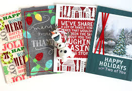 diy christmas card garland cutesy crafts