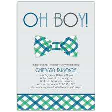 baby boy shower invitations bowtie baby shower invitations paperstyle
