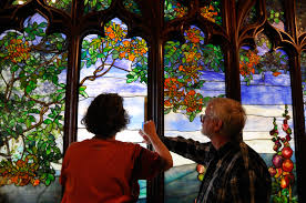 Louis Comfort Tiffany Stained Glass Conservation Of A Louis Comfort Tiffany Stained Glass Window